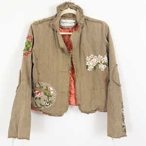 Papparazzi Floral Embroidered Jacket Blazer